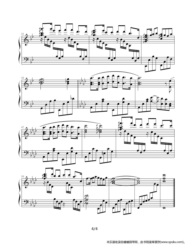 情网4-钢琴谱-曲谱