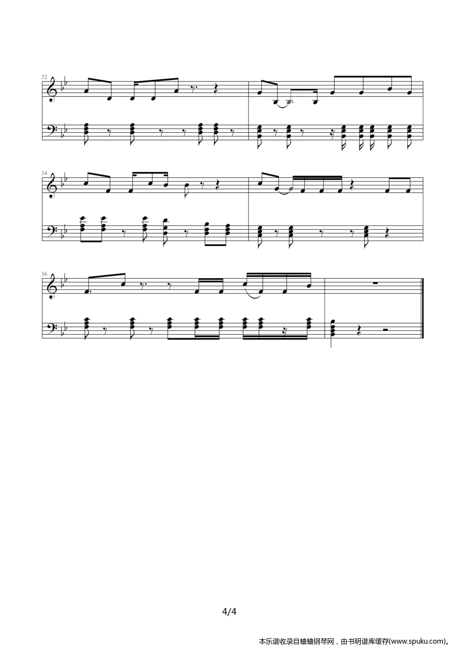 狮子座A4-钢琴谱-曲谱