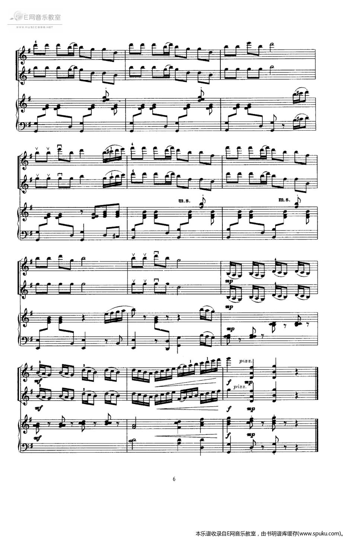 快乐的女战士6-钢琴谱-曲谱